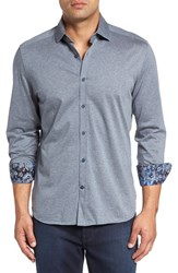 Stone Rose Men's Big And Tall Heather Jersey Knit Sport Shirt