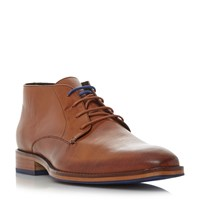 Dune Melbourne Chisel Toe Formal Boots Tan