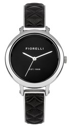 Fiorelli Ladies Silver And Black Bangle Watch
