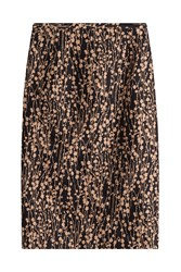 Michael Kors Collection Printed Cotton Skirt With Silk Multicolor