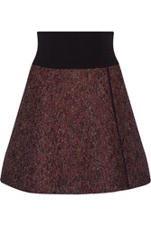 Isabel Marant Celest Wrap Effect Stretch Knit Mini Skirt Red
