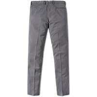 Incotex Garment Dyed Slim Fit Stretch Chino Grey