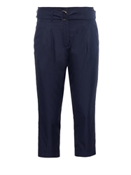 Jil Sander Tobia Pleat Front Cropped Cotton Trousers