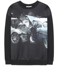Christopher Kane Printed Cotton Sweatshirt Black