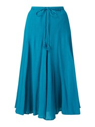 East Cheesecloth Crinkle Skirt Lagoon
