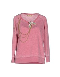 Met And Friends Topwear Sweatshirts Women Garnet
