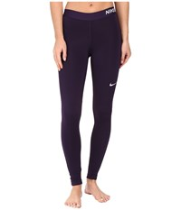 Nike Pro Warm Tights Purple Dynasty Bleached Lilac Women's Workout Black