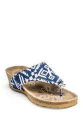 Muk Luks Olivia Terra Turf Wedge Blue