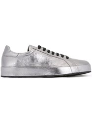 Jil Sander Metallic Grey Sneakers