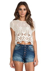 Lovers Friends Zuma Crop Top Cream