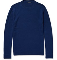 Theory Vetel Cashmere Crew Neck Sweater Blue