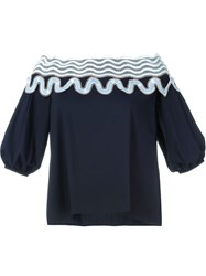 Peter Pilotto 'Pallas' Blouse Blue