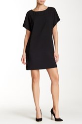 Lilla P Crepe Dolman Sleeve Dress Black
