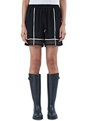 Preen Line Angie Sheer Contrast Trim Shorts Black