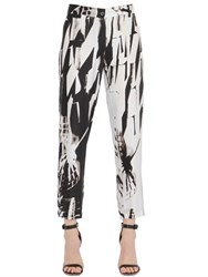 Ann Demeulemeester Printed Viscose And Silk Blend Cady Pants