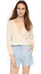 Twelfth St. By Cynthia Vincent Poet Blouse Ivory