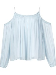 Elizabeth And James Off The Shoulder Tunic Blue