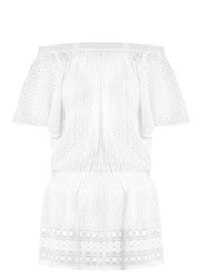 Melissa Odabash Michelle Off The Shoulder Dress White
