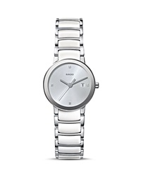 Rado Centrix S Quartz Jubile High Tech Ceramic And Stainless Steel Watch With Diamonds 28Mm