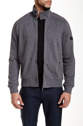 Ben Sherman Zip Front Fleece Sweatshirt Gray