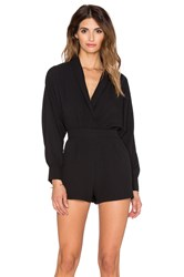 Oh My Love Plunge Up Romper Black