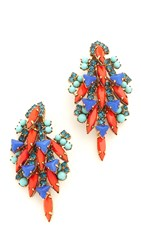 Elizabeth Cole Cassidy Earrings Tangerine