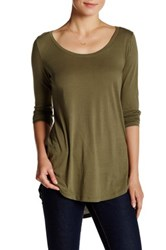 Abound Long Sleeve Basic Tee Green