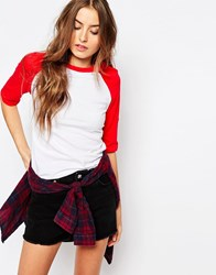 Glamorous Tall Baseball Style Tee Red