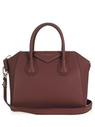 Givenchy Antigona Small Leather Tote Burgundy