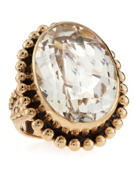 Stephen Dweck Rock Crystal Oval Ring Red