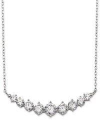 Giani Bernini Cubic Zirconia Graduated Collar Necklace In Sterling Silver Only At Macy's