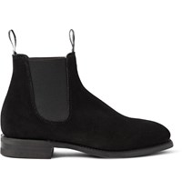 R.M. Williams Comfort Craftsman Suede Chelsea Boots Black