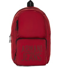 Armani Jeans Packaway Nylon Backpack Red