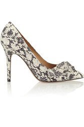 Isabel Marant Python Effect Printed Leather Pumps
