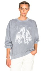 Baja East Fleece Horses Sweatshirt In Gray