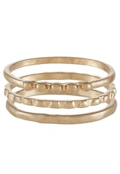 Selected Femme 3 Pack Sfmoby Ring Goldcoloured