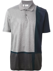 Brioni Colour Block Polo Shirt Grey
