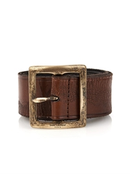 Saint Laurent Distressed Leather Belt