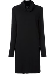 Ann Demeulemeester Cowl Neck Dress Black