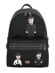 Dolce And Gabbana Leather Nylon Backpack