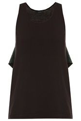Kage Jersey Tank Top With Green Frill