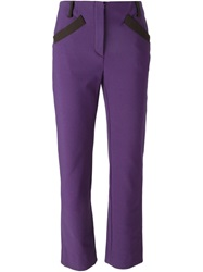 Prada Vintage Cropped Trousers Pink And Purple