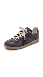 Maison Martin Margiela Leather And Suede Sneakers Black