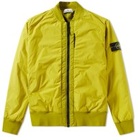 Stone Island Garment Dyed Crinkle Reps Bomber Green