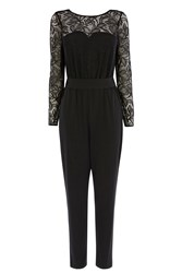 Coast Tabitha Lace Jersey Jumpsuit Black