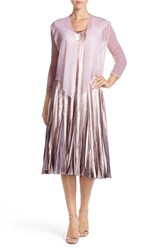 Women's Komarov Embellished Charmeuse A Line Dress And Jacket