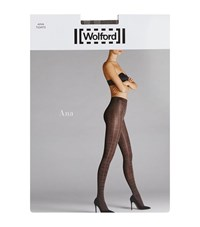 Wolford Ana Glitter Check Tights Female Grey