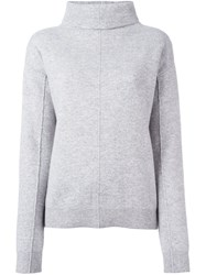 Joseph Cowl Neck Jumper Grey