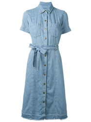 Current Elliott Denim Robe Dress Blue