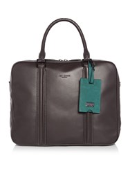 Ted Baker Dice Leather Document Bag Charcoal